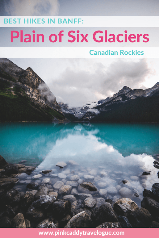 The Plain of Six Glaciers hike will help you appreciate the beauty of Banff without the distraction of the crowds #banff #canada #lake louise #hiking # travel