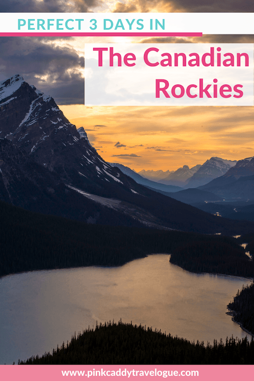This is the perfect 3-day Canadian Rockies itinerary! Includes all of the highlights, such as Lake Louise and Moraine Lake, as well as hiking, the Icefields Parkway, and more! #banff #canada #canadianrockies #travel