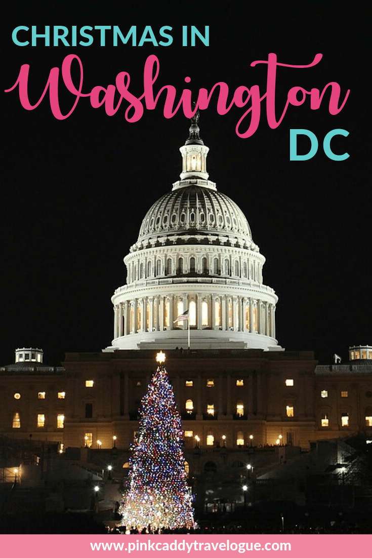 Headed to the nation's capital this holiday season? Here are some of the best ways to celebrate Christmas in Washington DC! #washingtondc #usa #virginia #christmas