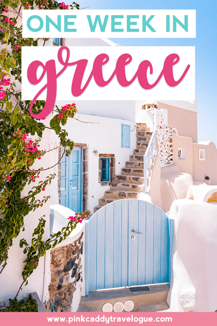 If you only have one week in Greece, you need a plan! Check out this jam-packed itinerary to make sure you make the most of your short time in this beautiful and fascinating country. #greece #travel #tripplanning #europe #roadtrip #athens #santorini #olympia #delphi #corinth