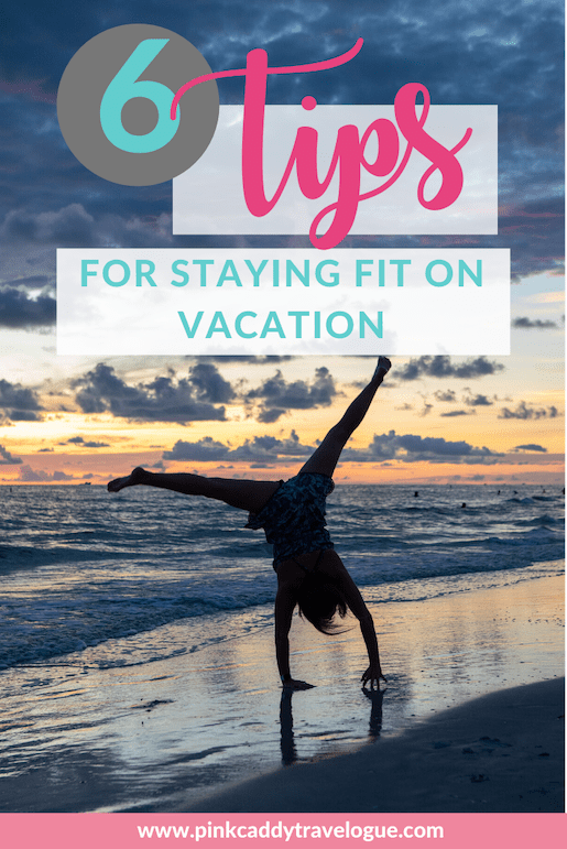 Yes, it is possible to maintain your fitness goals AND travel (and still enjoy your vacation)! Check out these 6 easy tips for doing just that (including eating all of the fun foods!) #fitness #travel #exercise #gym #vacation