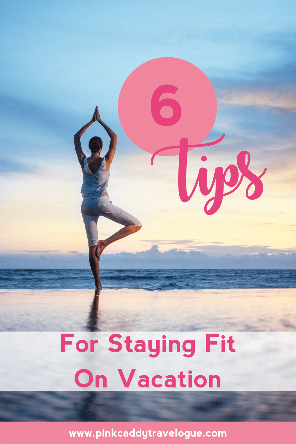 Worried about keeping up your fitness goals while traveling? Good news: it is possible to maintain your fitness goals AND travel (and still enjoy your vacation)! Check out these 6 easy tips for doing just that #fitness #travel #exercise #gym #vacation