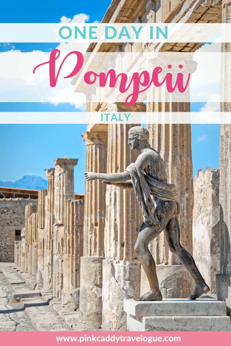 A day trip from Pompeii to Rome is easy and well worth the time! This ancient city was frozen in time after the eruption of Mt. Vesuvius - a visit here is a step back in time to ancient Italy #Italy #Rome #pompeii #travel #europe