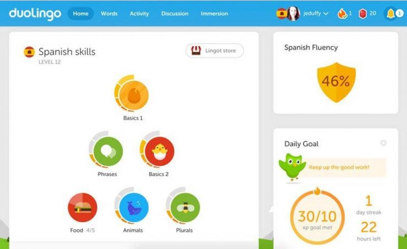 ways to learn a language duolingo