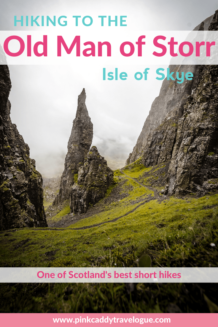 Scotland's Isle of Skye is full of amazing hikes, but the hike to the Old Man of Storr is one of the most popular and iconic. Check out everything you need to know before doing this short but epic hike! #scotland #isleofskye #uktravel #hiking #oldmanofstorr