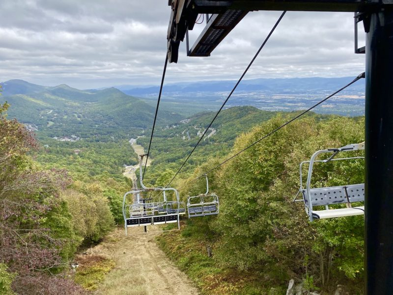 Chairlift ride at Massanutten Resort