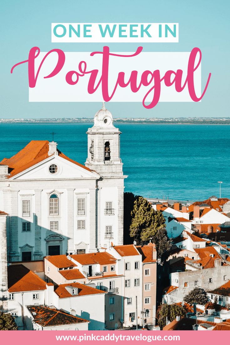 Portugal may be small, but it's jam-packed with amazing things to do! With this epic one week Portugal itineary, see beautiful Lisbon, electic Porto, taste wine in the Douro Valley, at explore the wild coastline in the Algarve #portugal #travel #vacation #lisbon #porto # dourovalley #algarve