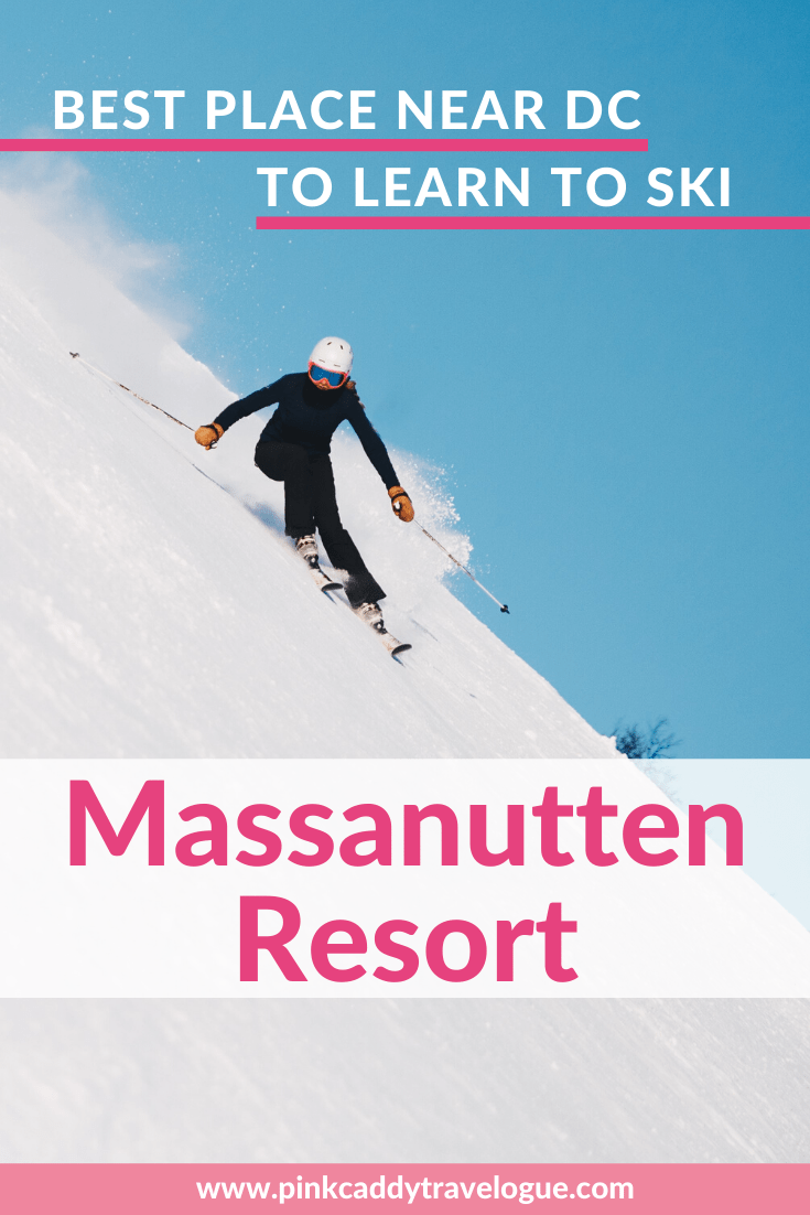 Virginia's Massanutten Resort is the best place to learn to ski near DC! Their all-terrain program is perfect for teaching beginners how before they hit the big slopes. Check out the guide for all of the other winter activities the resort offers too! #ski #usa #virginia #washingtondc