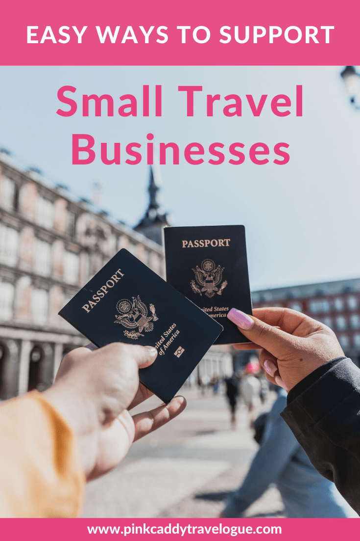 Here's a list of easy (and sometimes free!) ways to support your favorite travel businesses, even when you're not currently traveling! #travelbusiness #travel #travelblog #travelguides #covid19