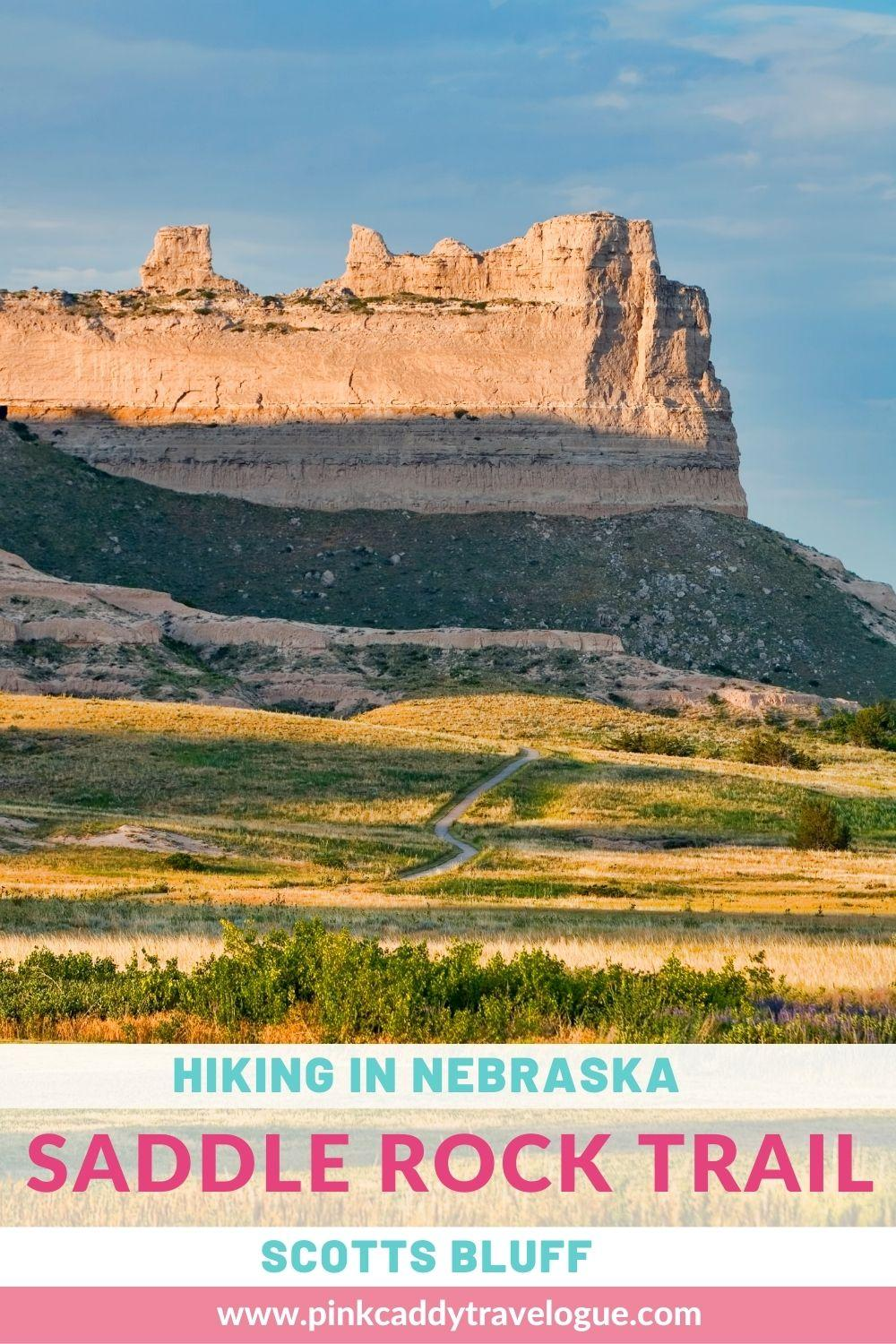 Yes, you CAN go hiking in Nebraska! Located in Scotts Bluff National Monument, the Saddle Rock Trail offers great views, a cool rock tunnel, and is just hard enough to be considered a hike but easy enough for most people to be able to do. Check out the article for all the info you need! #nebraska #scottsbluff #hiking #usatravel