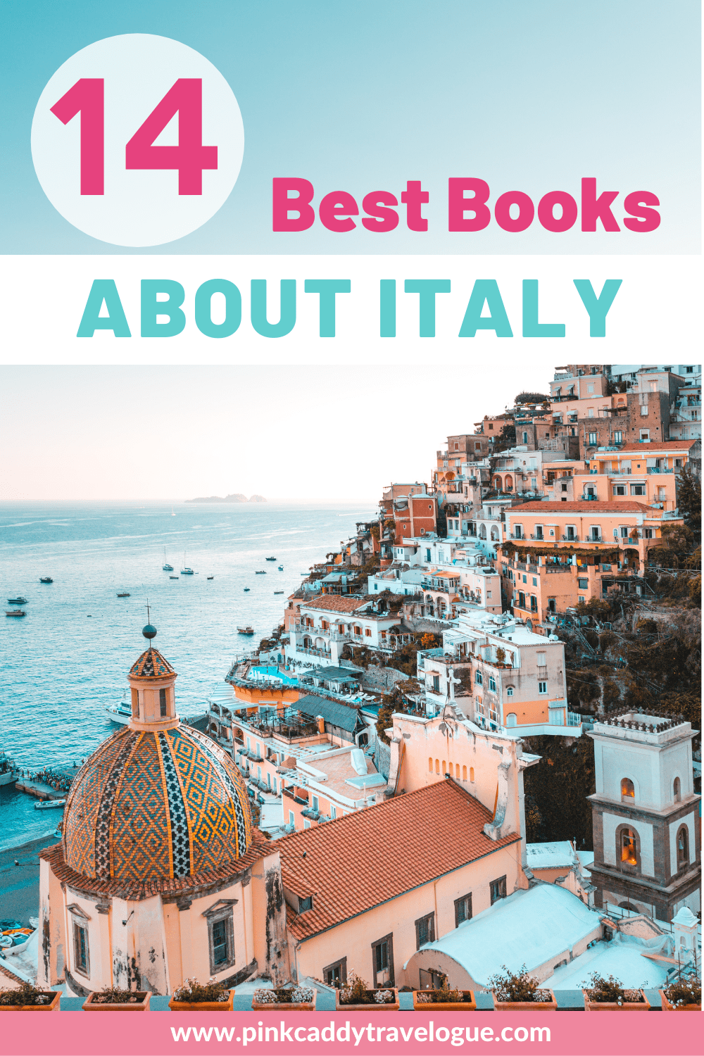 Are you planning a trip to the land of Chianti and Michelangelo? Here are the 14 best books about Italy to read before your trip! #italy #books #rome #florence #lakecomo #milan