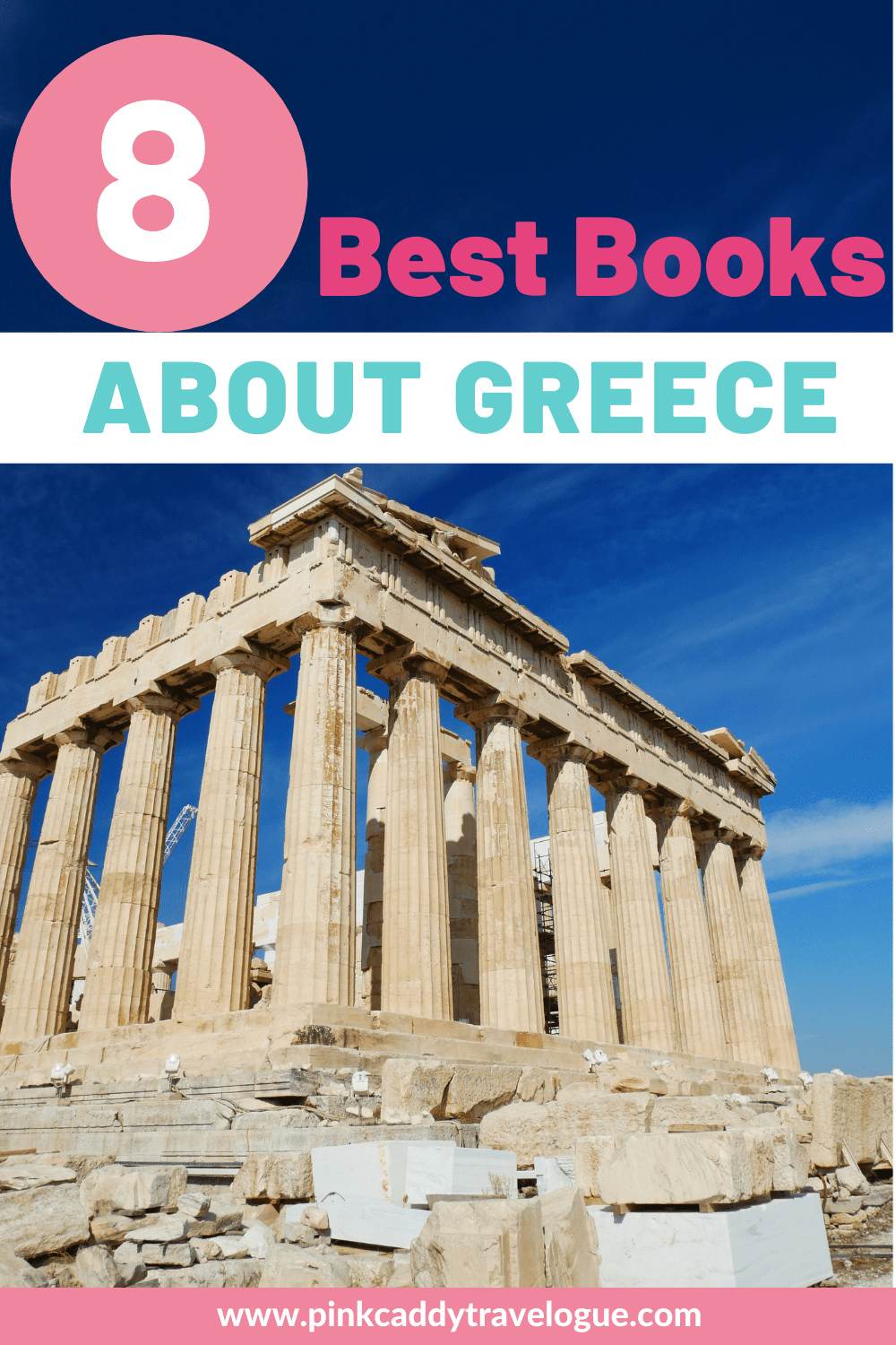 Are you planning on traveling to the land of feta cheese and olives? Here are some of the best books about Greece to read before your trip! #greece #books #travelbooks #read #athens #santorini